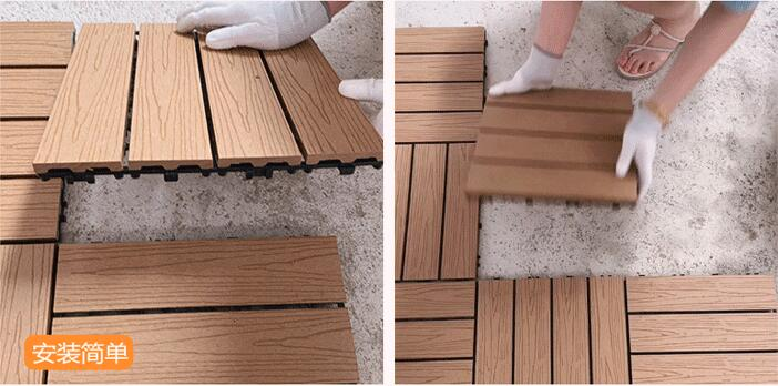 install decking tile