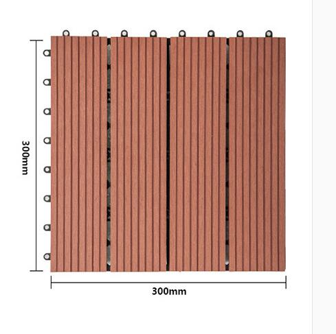 300X300X22mm WPC deck tile
