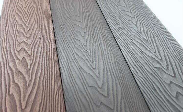 3D embossing WPC decking from China