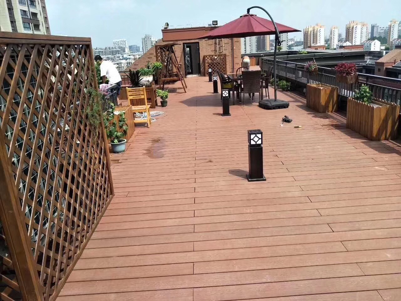 composite wood deck board in china