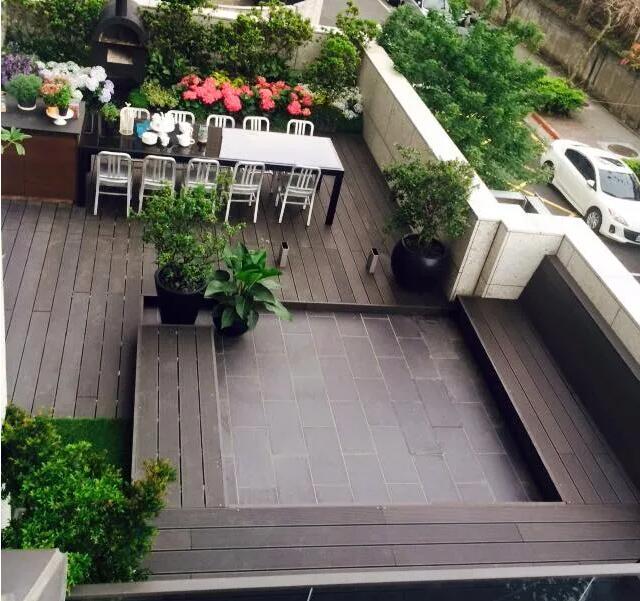 decking board in terrace