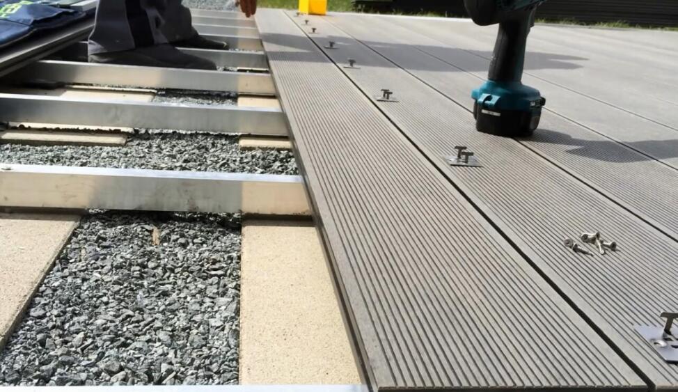 install composite deck board