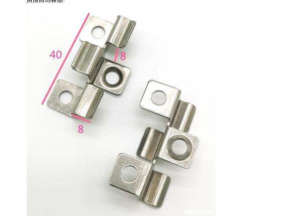 Steel clip for outdoor wpc decking
