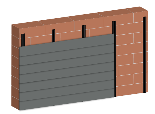 wall cladding made of wpc